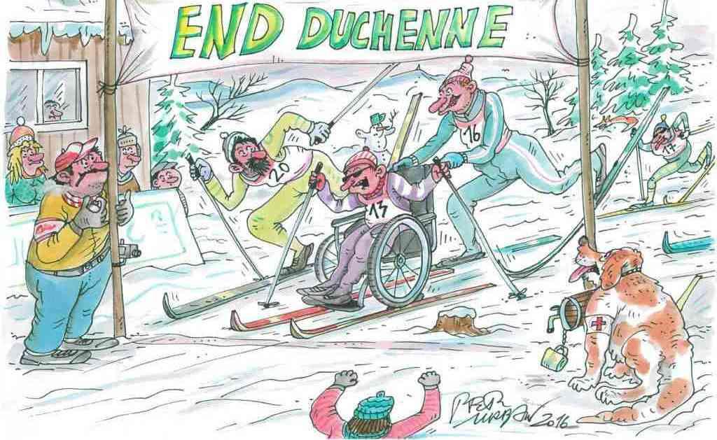 Petr Urban kreslí pro END DUCHENNE